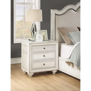 Cottage Nightstand with USB Chargers and Outlets