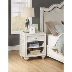 Cottage Nightstand with Felt-Lined Drawer