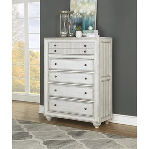 Cottage Drawer Chest with Felt-Lined Drawer