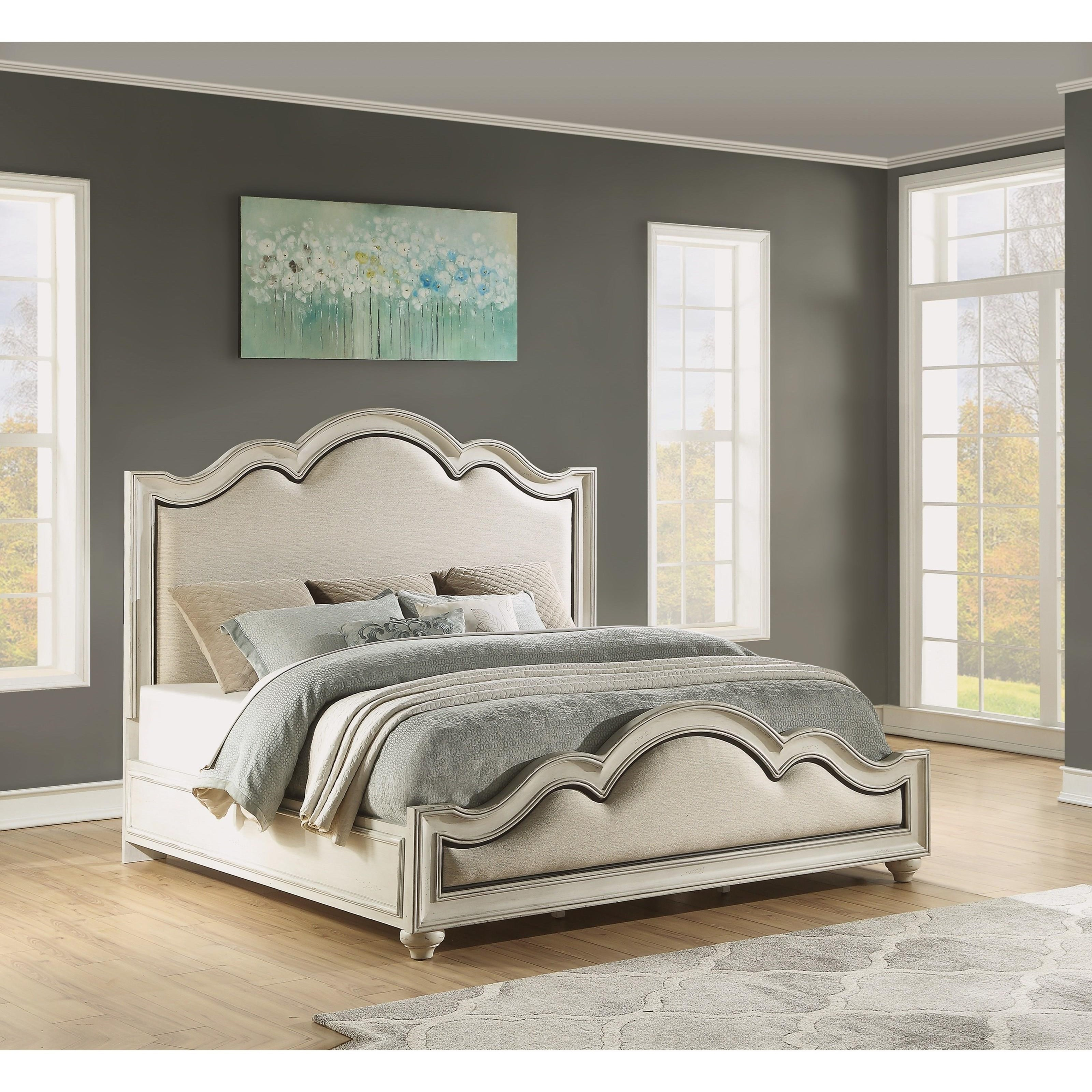 Harmony Queen Upholstered Bed by Flexsteel Wynwood Collection at Northeast Factory Direct