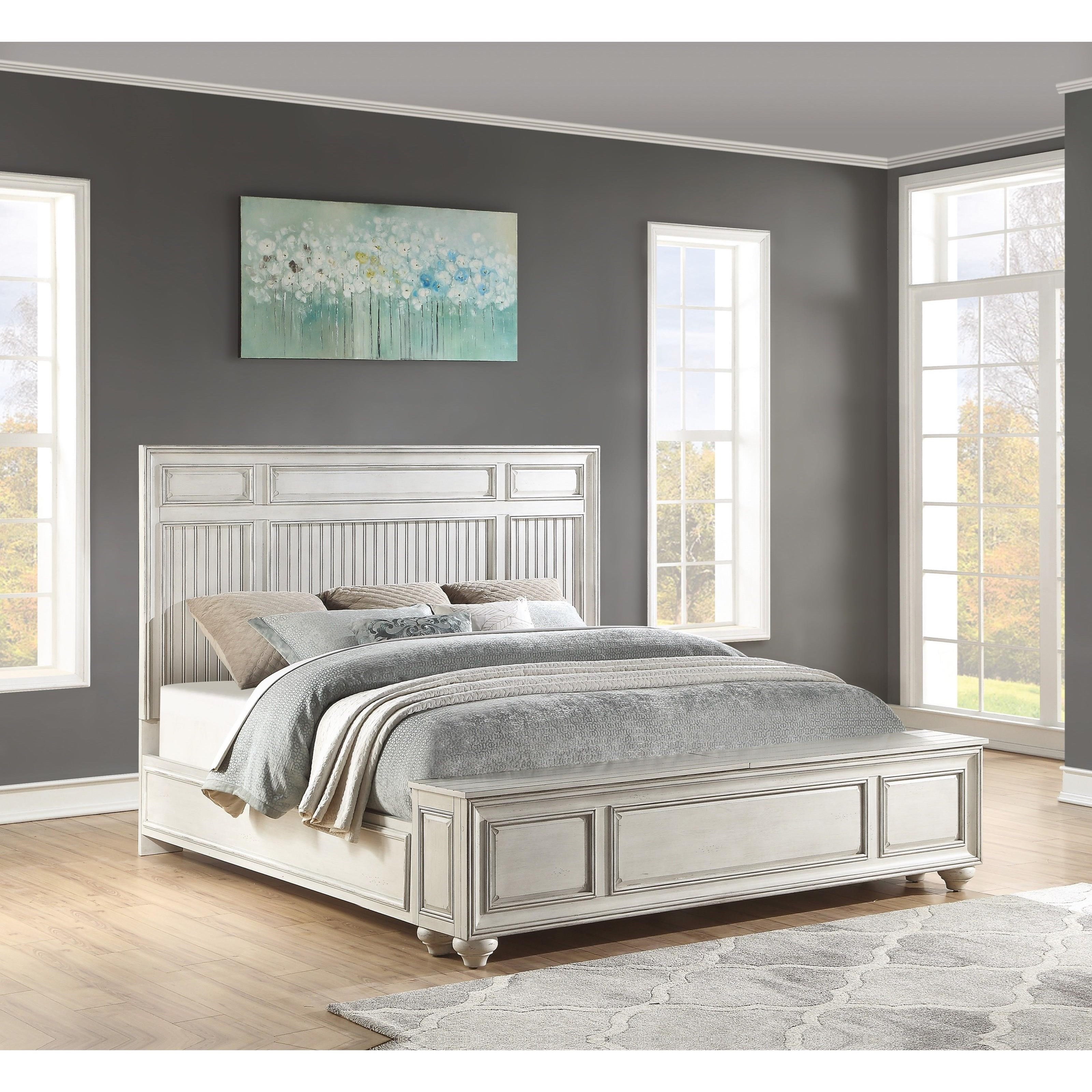 Harmony King Panel Storage Bed by Flexsteel Wynwood Collection at Northeast Factory Direct