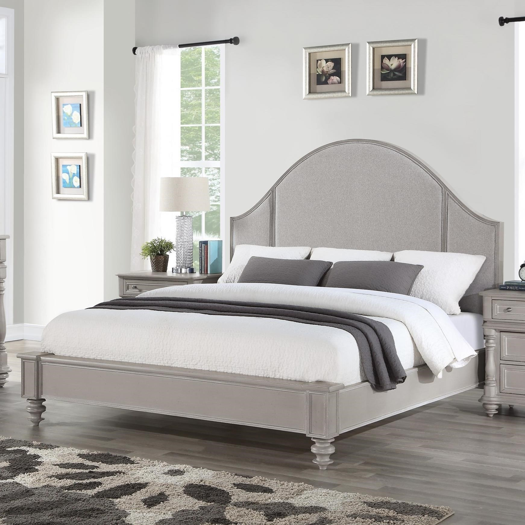 Heirloom Cal King Upholstered Bed by Flexsteel Wynwood Collection at Northeast Factory Direct
