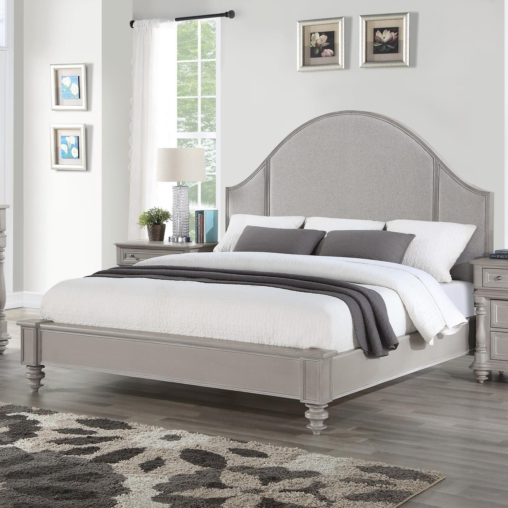 Heirloom Queen Upholstered Bed by Flexsteel Wynwood Collection at Northeast Factory Direct