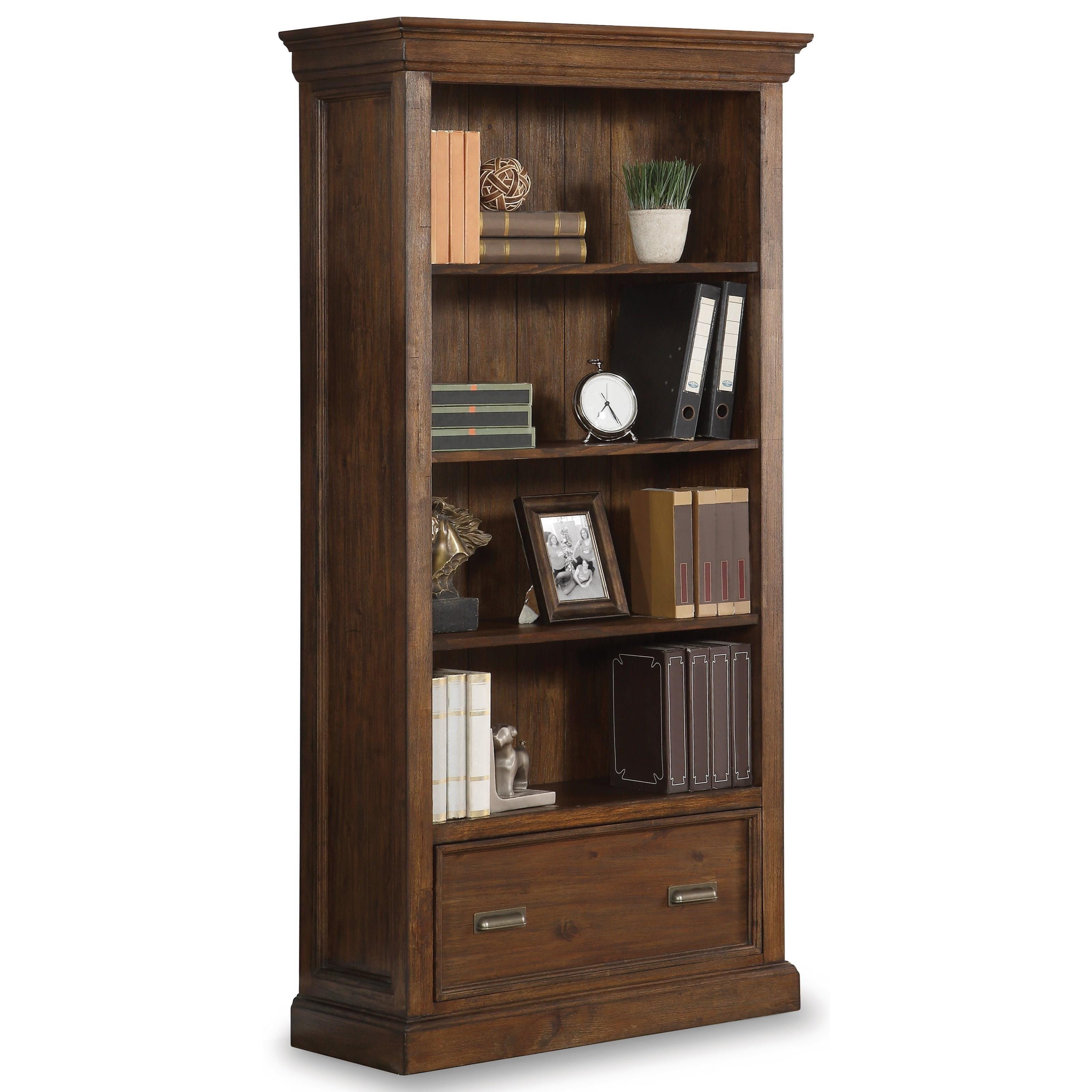 Flexsteel Wynwood Collection Herald File Bookcase  - Item Number: W1327-702