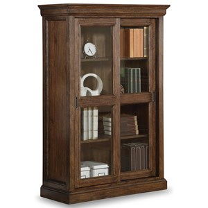 Flexsteel Wynwood Collection Herald Sliding Door Bookcase