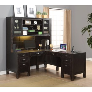 Flexsteel Wynwood Collection Homestead L-Shaped Desk