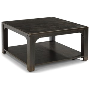 Flexsteel Wynwood Collection Homestead Square Cocktail Table