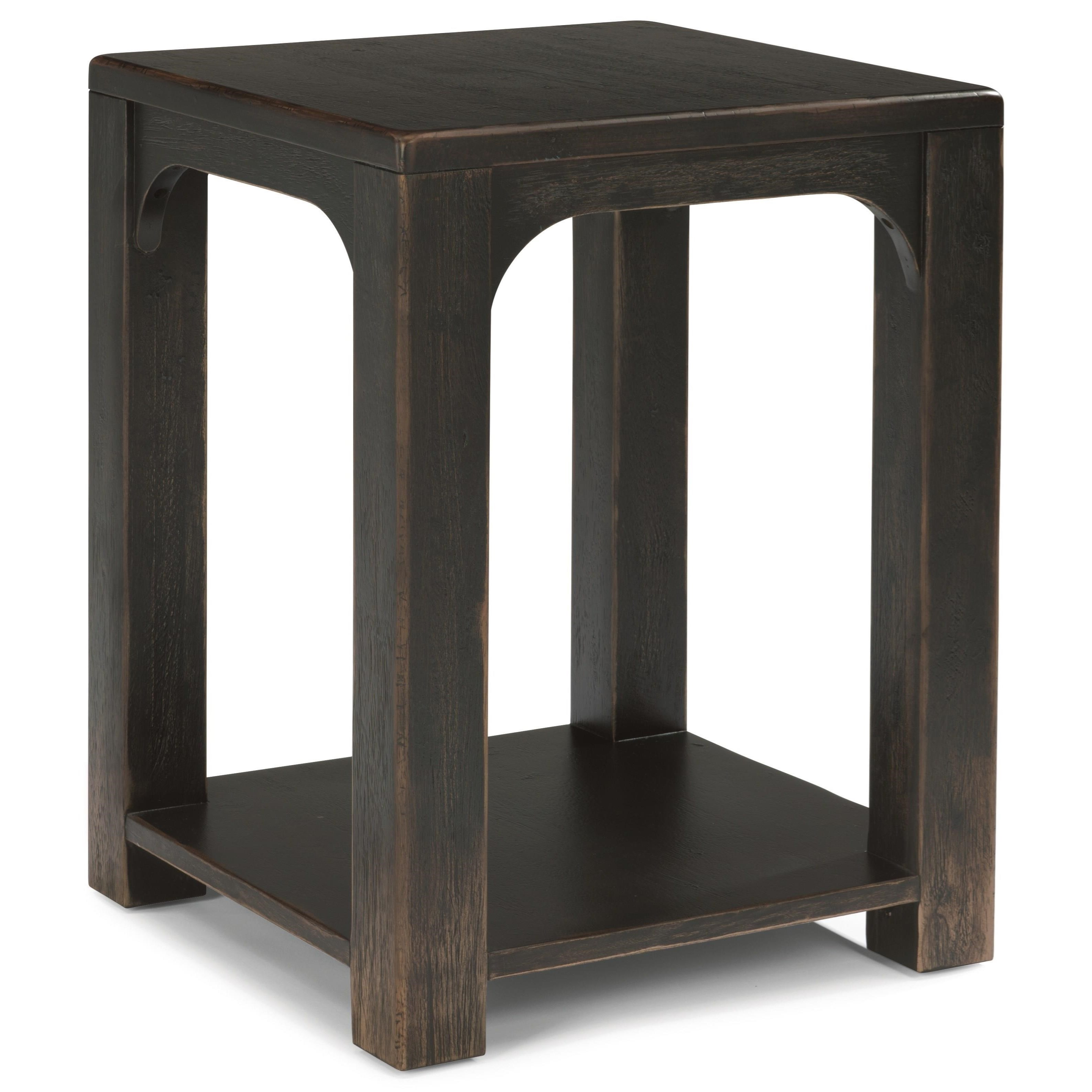 Flexsteel Wynwood Collection Homestead Rustic Chairside Table with