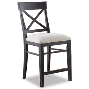 Flexsteel Wynwood Collection Homestead Armless Counter Chair