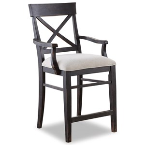 Flexsteel Wynwood Collection Homestead Arm Counter Chair
