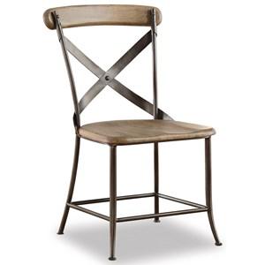 Flexsteel Wynwood Collection Keystone Industrial Armless Side Chair