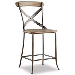 Flexsteel Wynwood Collection Keystone Industrial Armless Counter Chair
