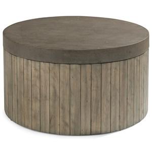 Flexsteel Wynwood Collection Keystone Modern Round Cocktail Table