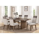 Flexsteel Wynwood Collection Maximus Dining Group 7 Pc Dining Set - Item Number: W1144-831+6x842