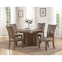 Flexsteel Wynwood Collection Maximus Dining Group 5 Pc Dining Set - Item Number: W1144-834+4x840