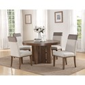 Flexsteel Wynwood Collection Maximus Dining Group 5 Pc Dining Set - Item Number: W1144-834+4x842
