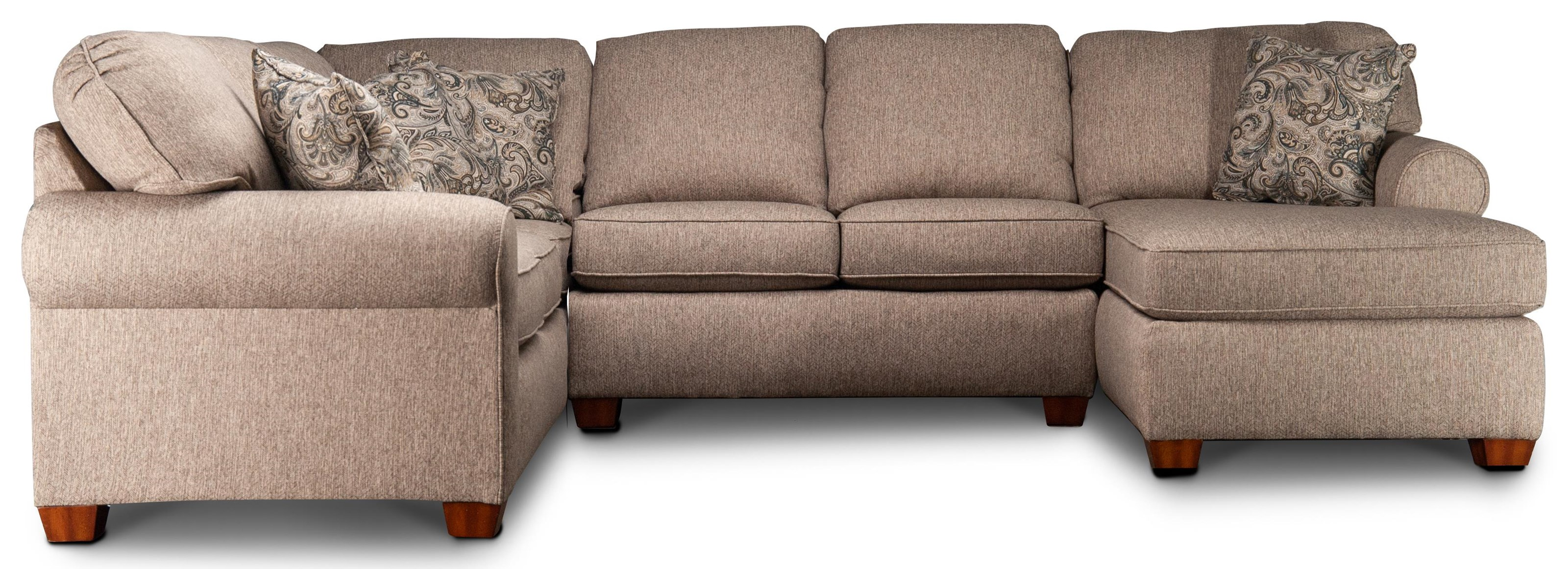 Oriana Oriana Sectional Sofa with Chaise by Flexsteel Wynwood Collection at Morris Home
