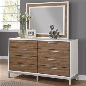 Flexsteel Wynwood Collection Oslo Dresser and Mirror