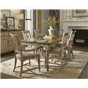 Flexsteel Wynwood Collection Plymouth Cottage Dining Leg Table & Chair Set - Item Number: GRP-W1147-TBL 6
