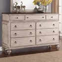 Flexsteel Wynwood Collection Plymouth Dresser - Item Number: W1047-860