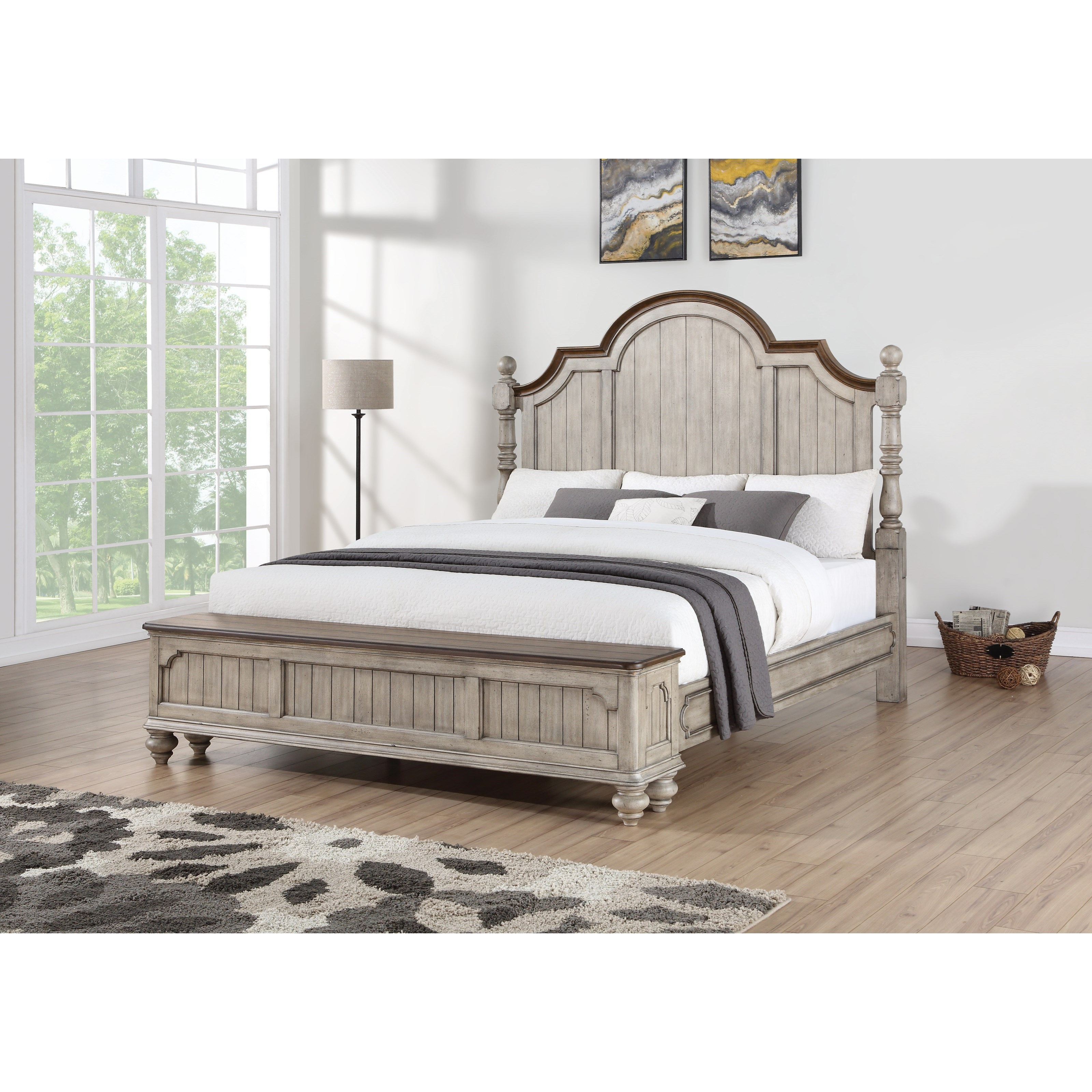 Flexsteel Wynwood Collection Plymouth Relaxed Vintage California King Poster Storage Bed Furniture Superstore Rochester Mn Poster Beds