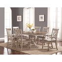 Flexsteel Wynwood Collection Plymouth Table and Chair Set - Item Number: W1147-834+2x841+4x842