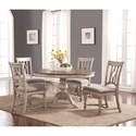Flexsteel Wynwood Collection Plymouth Table and Chair Set - Item Number: W1147-834+4x840