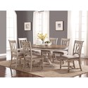 Flexsteel Wynwood Collection Plymouth Table and Chair Set - Item Number: W1147-834+6x840