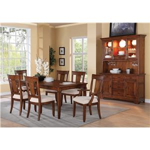 Flexsteel Wynwood Collection River Valley Formal Dining Room Group