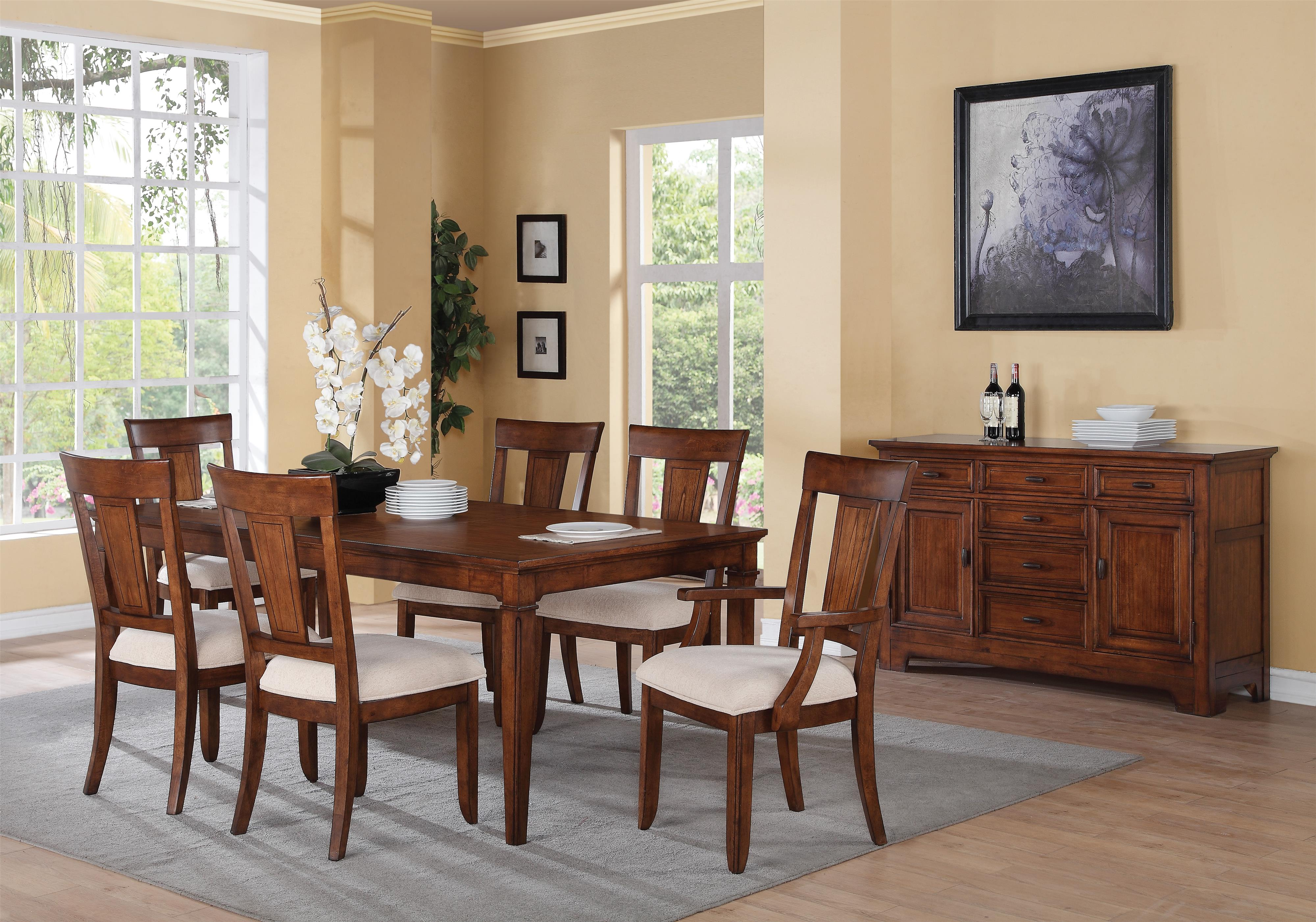 Flexsteel Wynwood Collection River Valley Formal Dining Room Group - Item Number: W1572 Dining Room Group 2