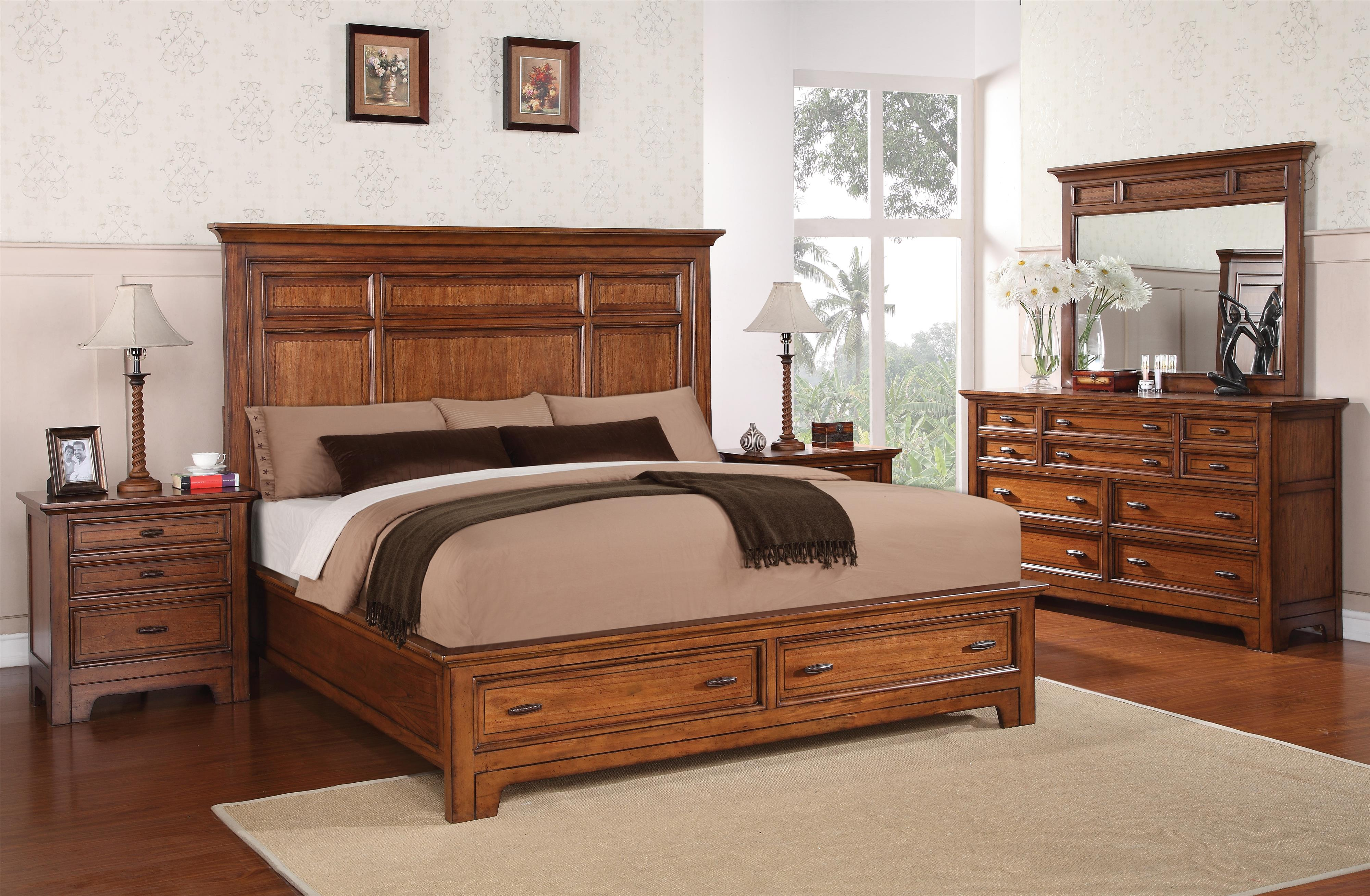 Flexsteel Wynwood Collection River Valley King Bedroom Group - Item Number: W1572 K Bedroom Group 2