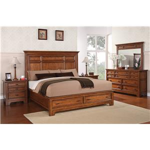 Flexsteel Wynwood Collection River Valley Queen Bedroom Group