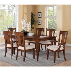 Flexsteel Wynwood Collection River Valley 7 Piece Dining Table Set