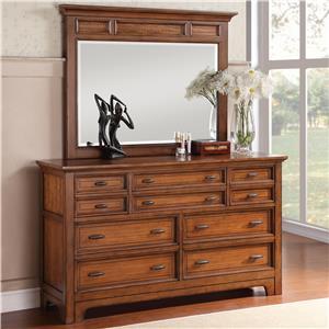 Flexsteel Wynwood Collection River Valley Dresser and Mirror