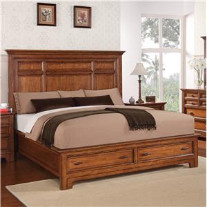 Flexsteel Wynwood Collection River Valley Queen Panel Storage Bed