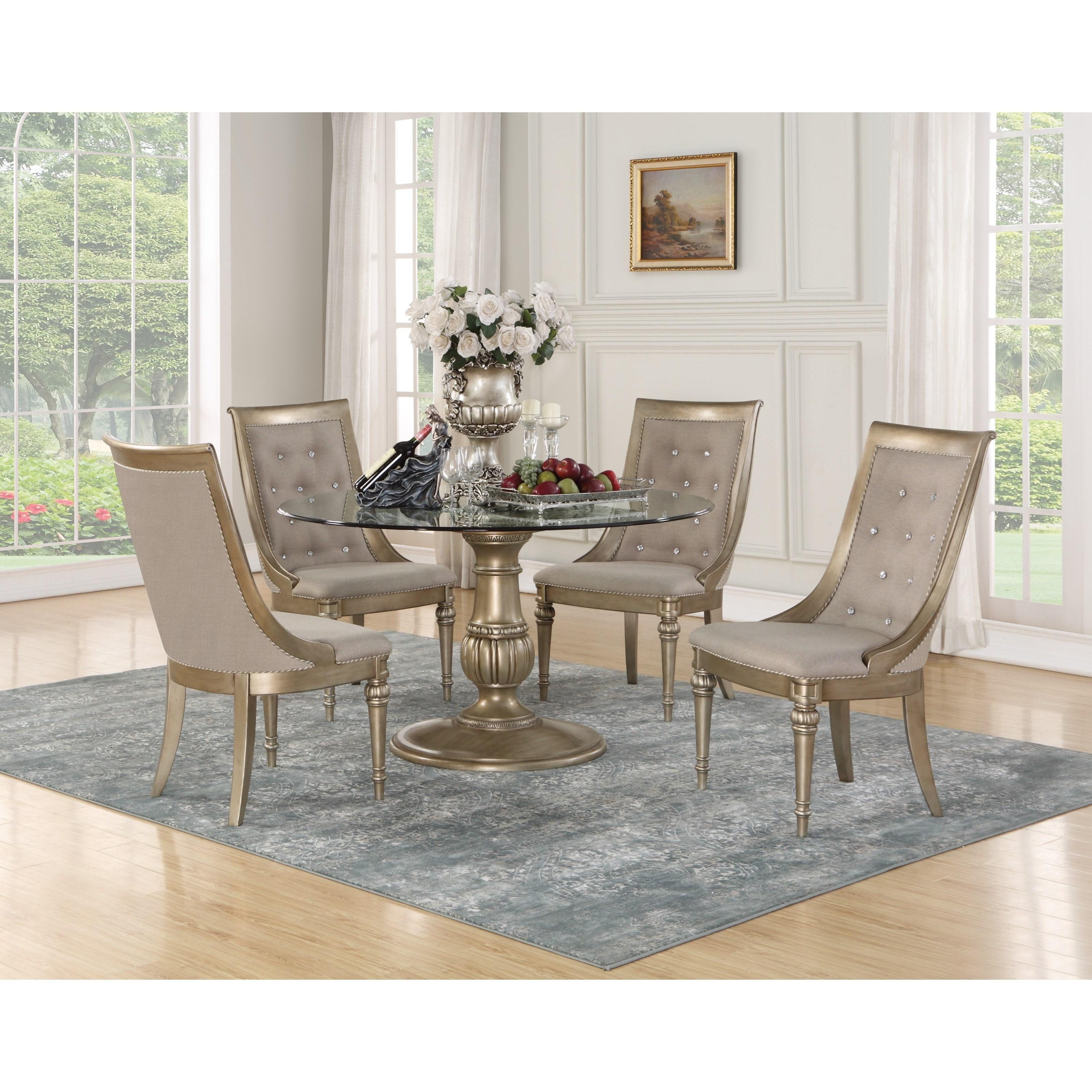 Dining Room Tables San Diego: Flexsteel Wynwood Collection San Cristobal 5 Piece Round
