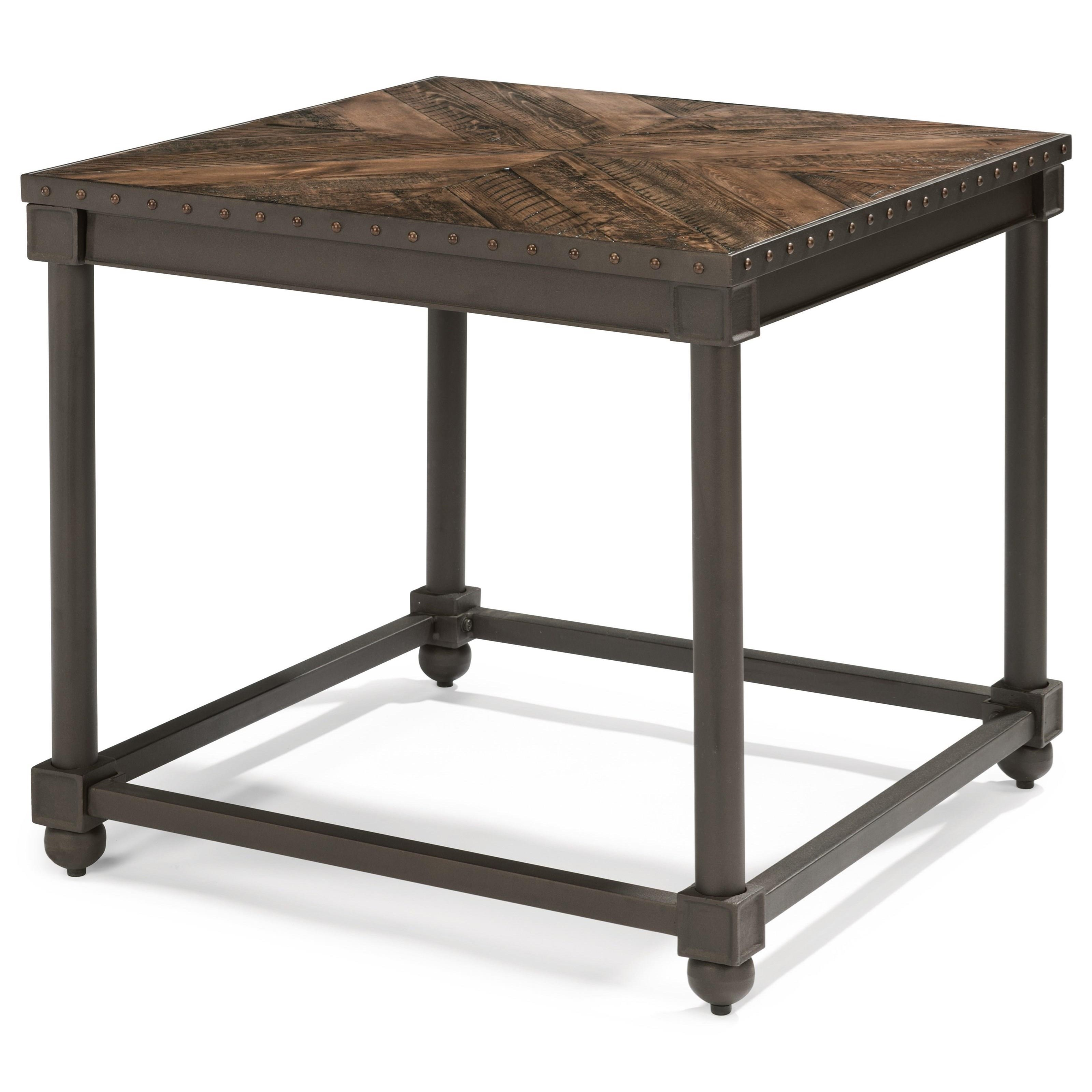 Flexsteel Wynwood Collection Sequence Industrial Lamp Table  - Item Number: W1439-02