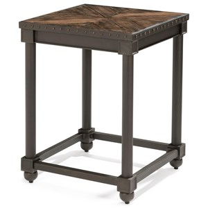 Flexsteel Wynwood Collection Sequence Industrial Chairside Table