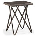 Flexsteel Wynwood Collection Shadow Chairside Table  - Item Number: W1069-07