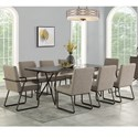 Flexsteel Shadow 9-Piece Table and Chair Set - Item Number: W1069-831+2x841+6x840