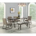 Flexsteel Shadow 6-Piece Table Set with Bench - Item Number: W1069-831+4x840+868