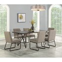 Flexsteel Shadow 7-Piece Table and Chair Set - Item Number: W1069-831+6x840