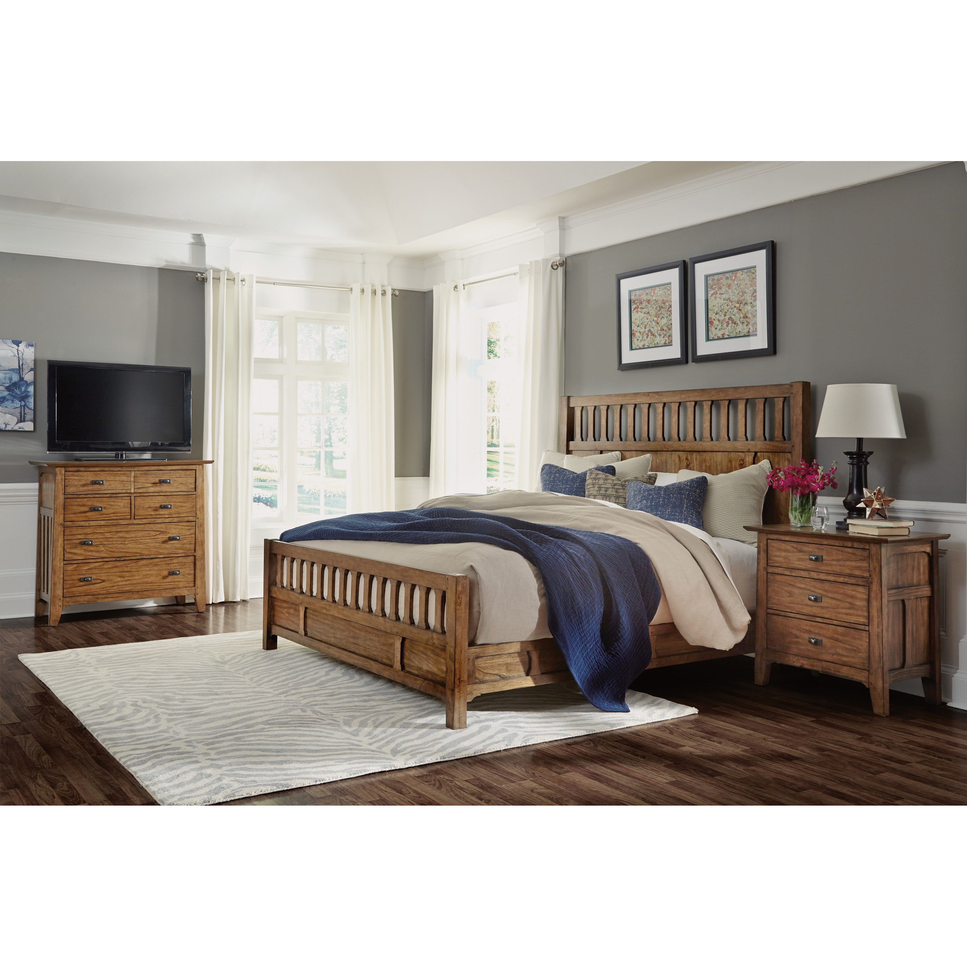 Cal King Bedroom Group with Media Chest