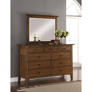 Flexsteel Wynwood Collection Sonora Dresser and Mirror