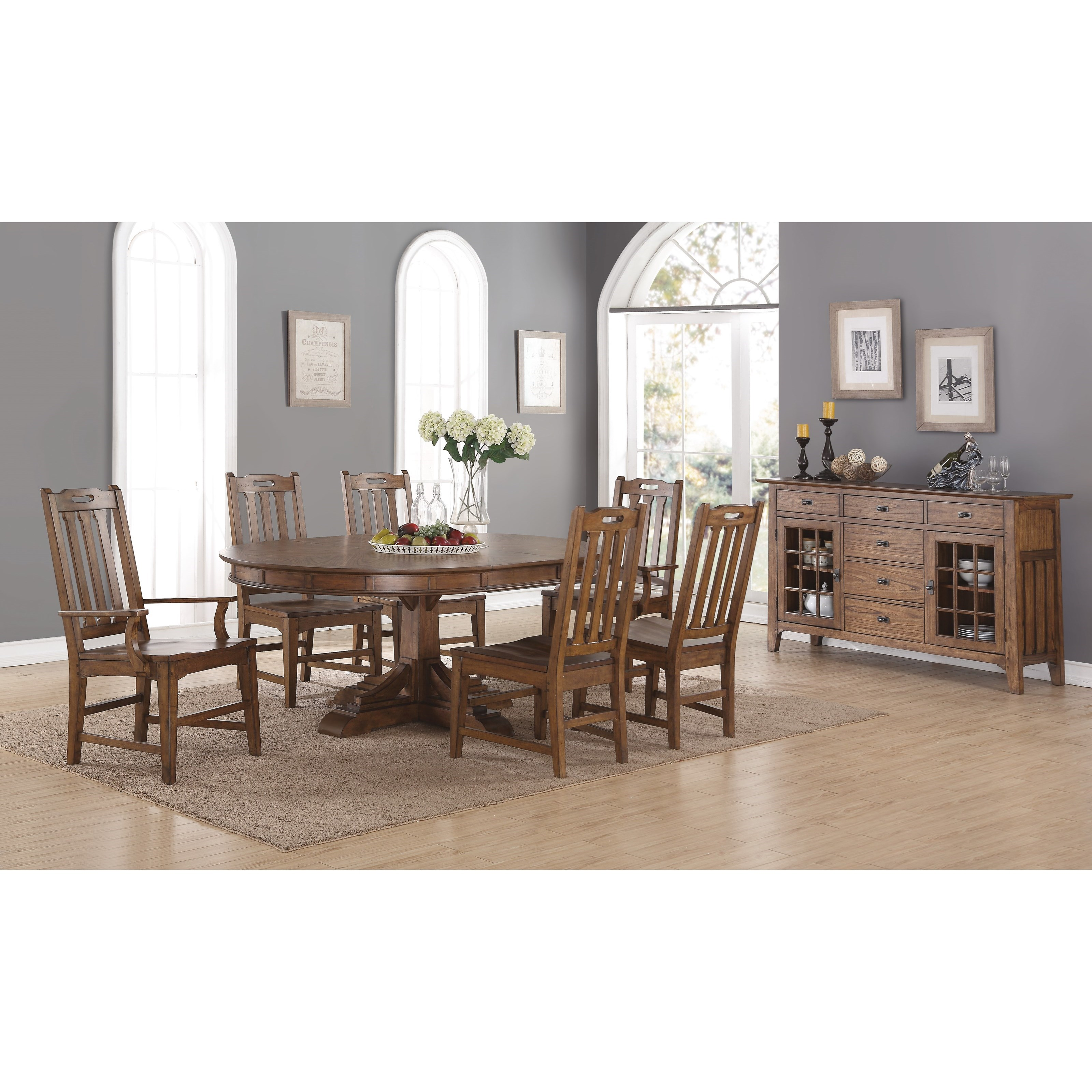 Flexsteel Wynwood Collection Sonora Formal Dining Room Group - Item Number: W1134 Dining Room Group 4