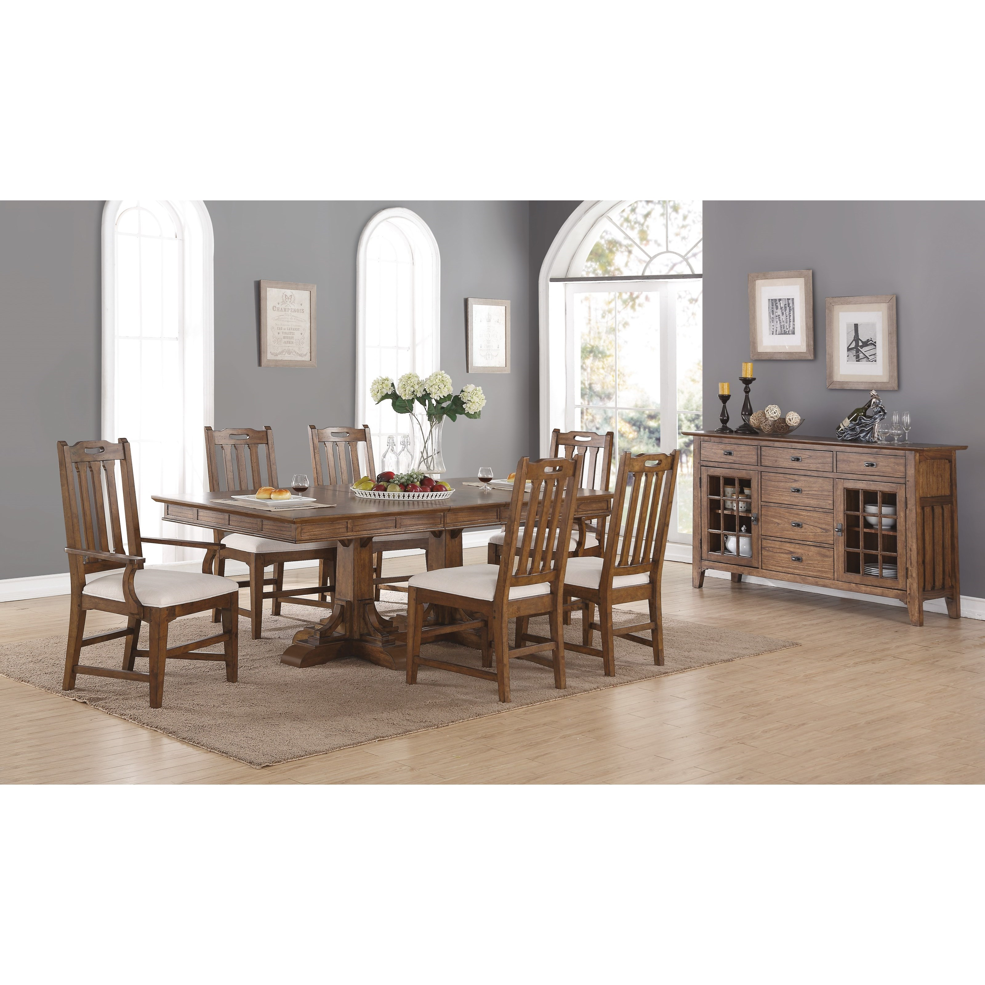 Formal Dining Room Furniture Manufacturers: Flexsteel Wynwood Collection Sonora Formal Dining Room