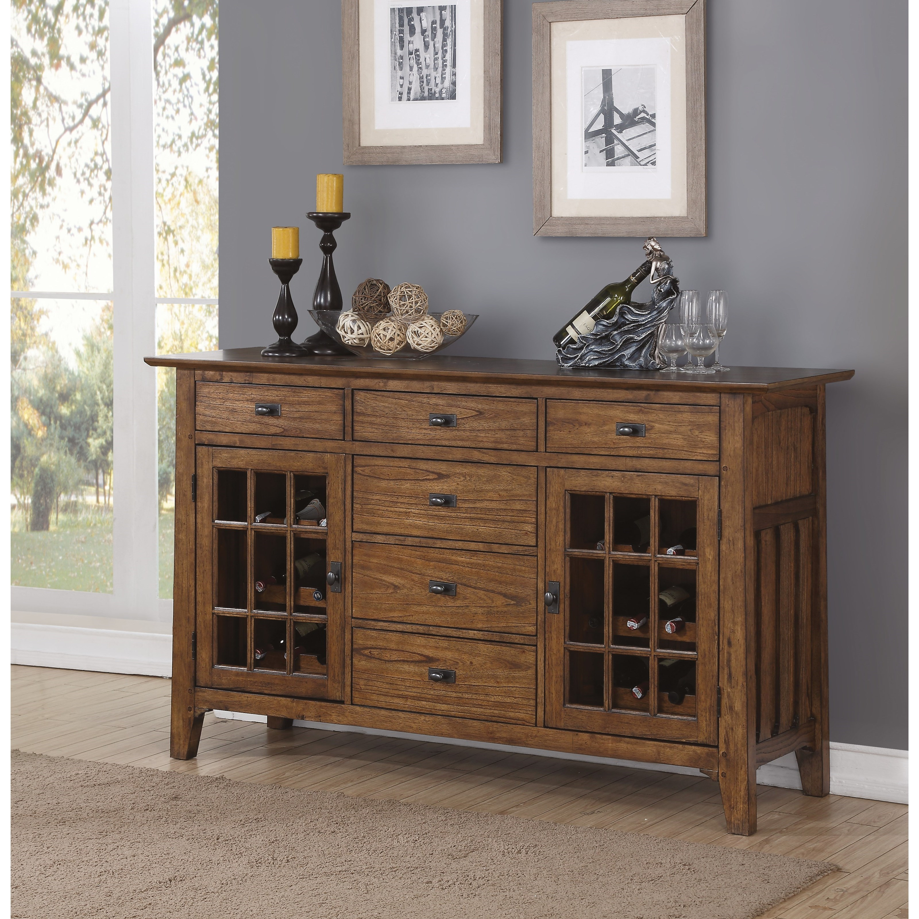 Flexsteel Wynwood Collection Sonora Mission Dining Buffet