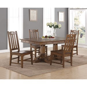 Flexsteel Wynwood Collection Sonora Rectangular Dining Table and Chair Set