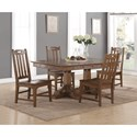 Flexsteel Wynwood Collection Sonora Rectangular Dining Table and Chair Set - Item Number: W1134-830+4x840