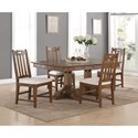 Flexsteel Wynwood Collection Sonora Rectangular Dining Table and Chair Set - Item Number: W1134-830+4x842